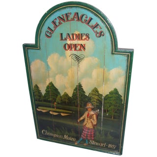 English Lady Golfer Sign
