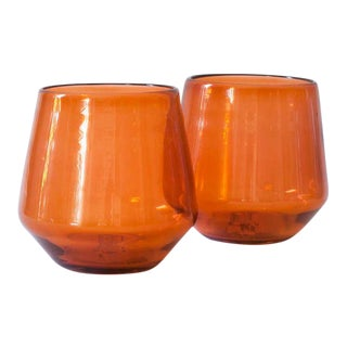 Suite One Studio Sample Glasses in Pumpkin - A Pair