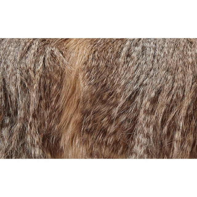 Brown Faux Fur Pillows - A Pair - Image 3 of 3