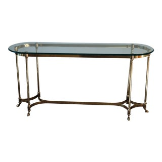 1960s La Barge-Style Brass Console
