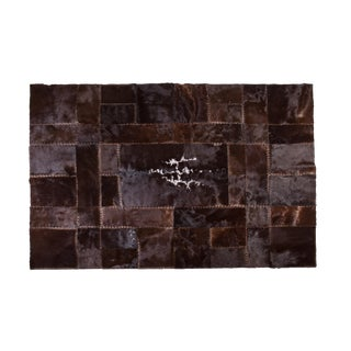 "Modern Cowhide Patchwork Area Rug - 7'11""x5'10"""