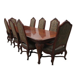 French Provençal Banquet Table & Eight Chairs