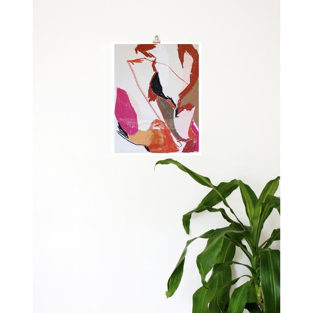Meredith Bullock Fire Woman Abstract Print - Image 3 of 3
