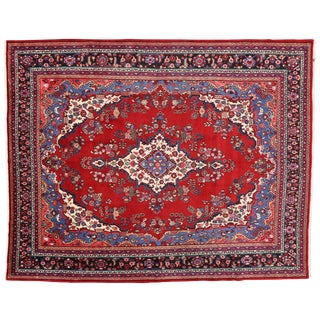 Vintage Persian Tabriz Rug with Traditional Modern Style 10'8 x 13'4