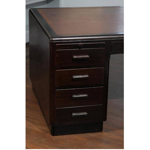 Art Deco Pedestal Desk - Image 3 of 7