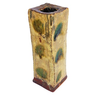 Hand Built Slab Pottery Vase
