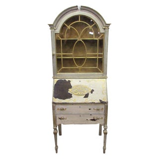 Antique Secretary Desk & Cabinet Duo