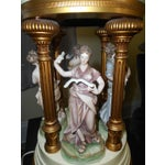 Image of Dresdan Style Porcelain Dancing Figures Lamp