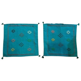 Moroccan Hand-loomed Wool Pillow Cases - A Pair