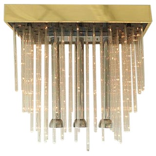 Mid-Century LED Lucite Rods Flushmount Light