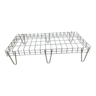 Aluminum Colored Iron Coffee Table