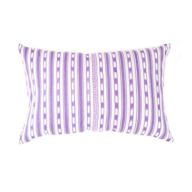 Image of Lilac Purple Ikat Guatemalan Pillow