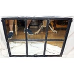 Image of Iron Framed Mullion Mirror