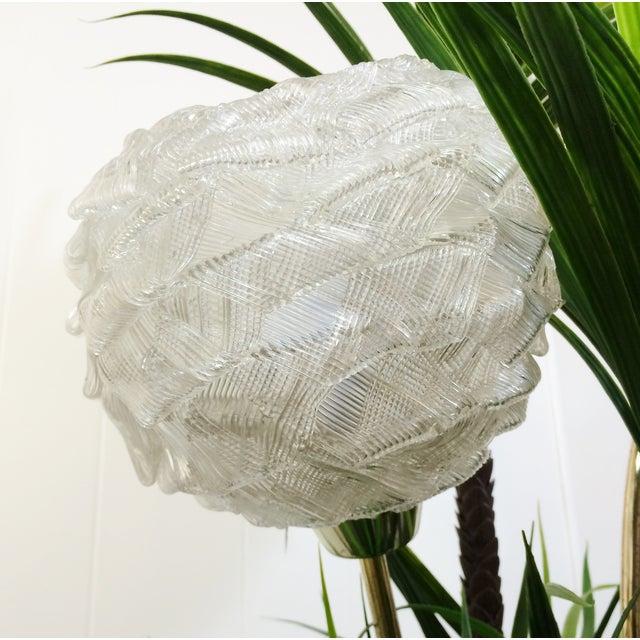Mid Century Spaghetti Spun Lucite Palm Tree Lamp - Image 6 of 8