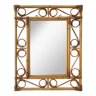 Vintage Bamboo Rectangular Mirror