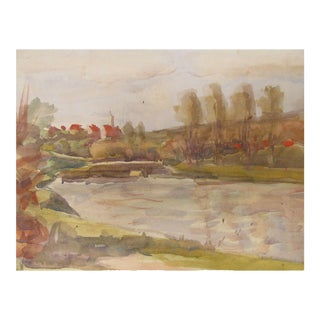 French Abstract Watercolor Landscape