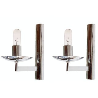 Vintage Italian Chrome Sconces by Sciolari - Pair
