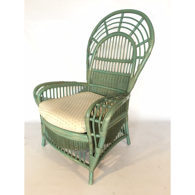 Ficks Reed Rattan Bamboo Fan Back Arm Chair - Image 2 of 11