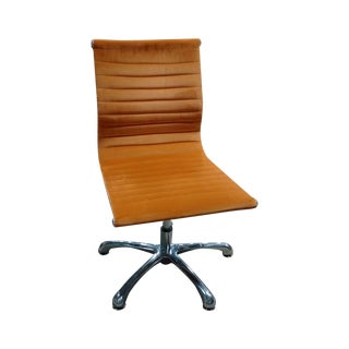 Burnt Orange Eames Style Armless Chair