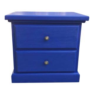 Blue Wooden Nightstand
