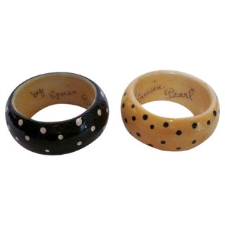 Chunky Modernist Edwin Pearl Bracelets - A Pair