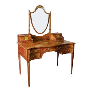 English Edwardian Satinwood Dressing Table