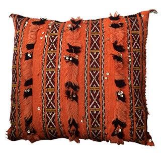 Tangerine Dream Berber Pillow