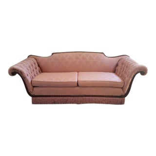 Antique Victorian Pink Loveseat Sofa