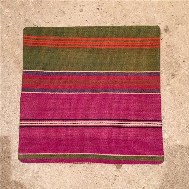 Image of Vintage Pink Striped Kilim Pillow