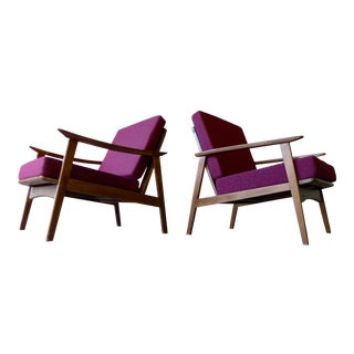 PAIR Mid Century Modern LOUNGE CHAIRs armchairs