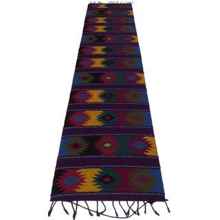 RugsinDallas Vintage Mexican Kilim Rug - 1′2″ × 4′11″
