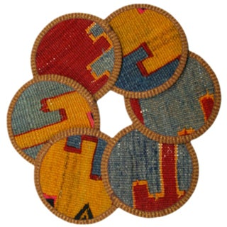 Kilim Coasters Set of 6 - Eymir
