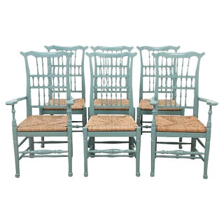Provincial Rush Dining Chairs - Set of 6
