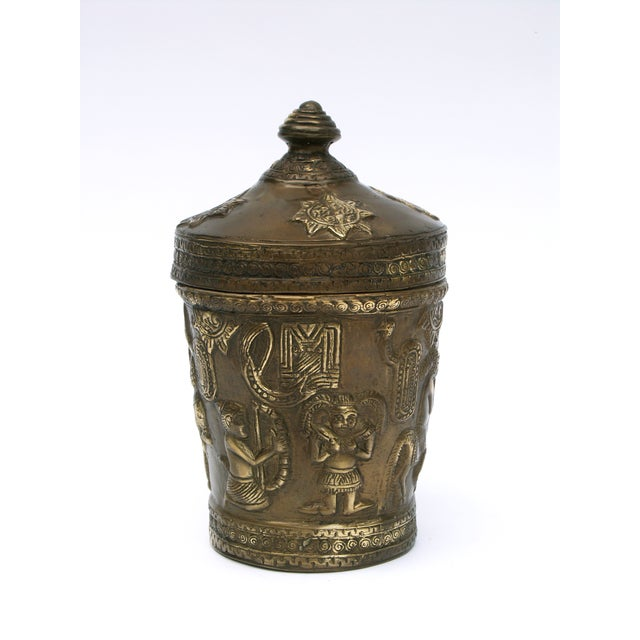 Decorative Indonesian Bronze Jar - Image 6 of 6
