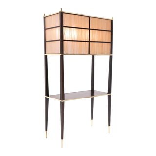 Large Floor Lamp with Attached Shelf in the Style of Dunbar or Paul McCobb
