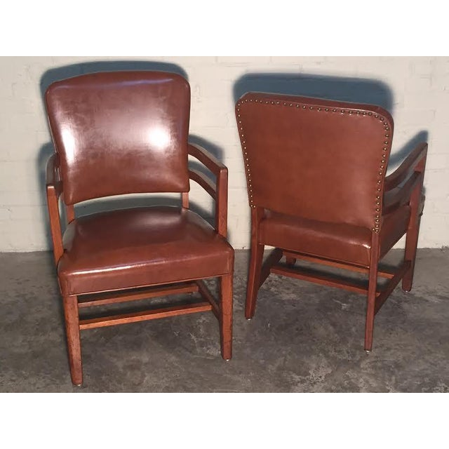 Mid-Century Office Chairs W/Nailhead Back - A Pair - Image 10 of 10