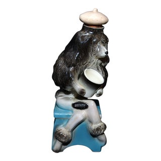 Hickok French Poodle Brandy Decanter