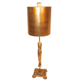 Mario Villa Gilt Nefertiti Table Lamp
