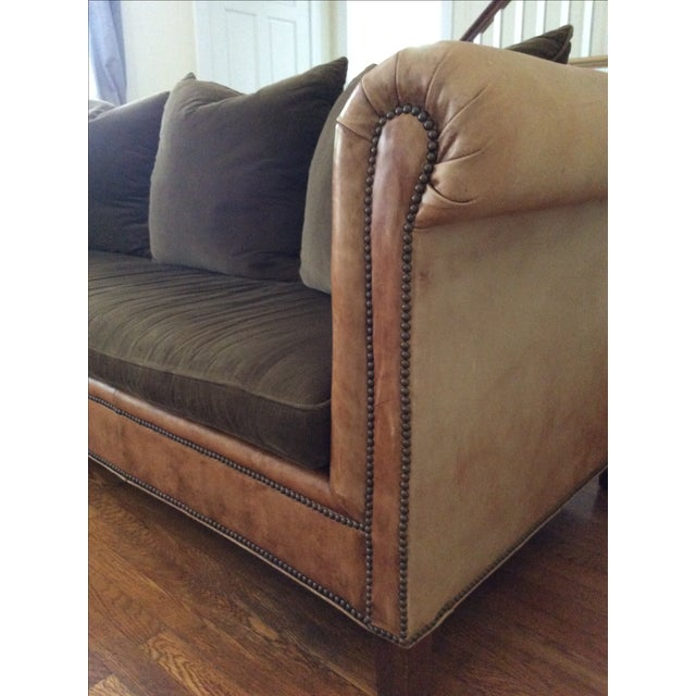 Ralph Lauren Brompton Leather Corduroy Sofa Chairish