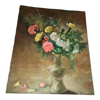 Flower Vase Oil Painting on Board