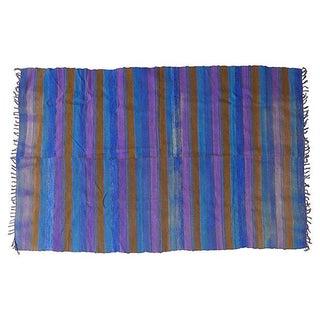 """Vintage Mohair Wool Stripe Rug - 7'8"""" x 4'8"""""""