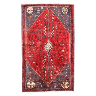 Vintage Red Persian Hand Knotted Wool Rug - 2'5 x 4'3