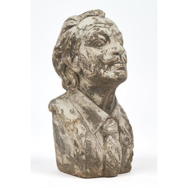 High end salvador dali vintage stone sculpture bust decaso