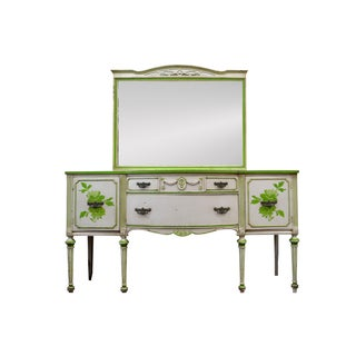 Mid-1800's Louis XVI Buffet Sideboard With Mirror
