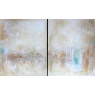 Desert Lights Original Art Painting Diptych