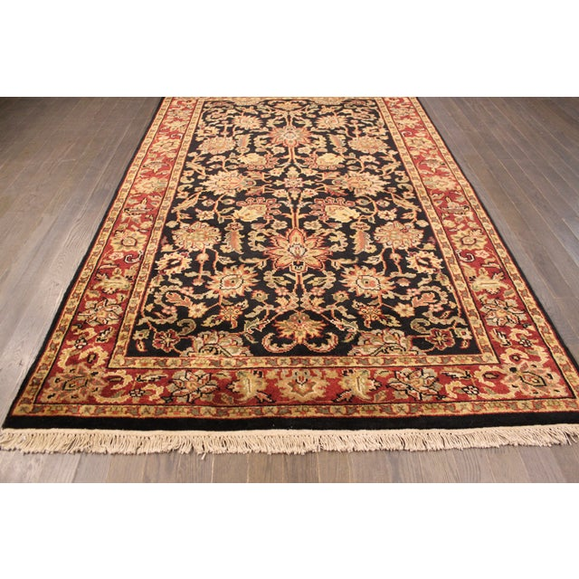 """Hand-Knotted Kashan Wool Rug - 5'1"""" X 7'10"""" - Image 2 of 5"""