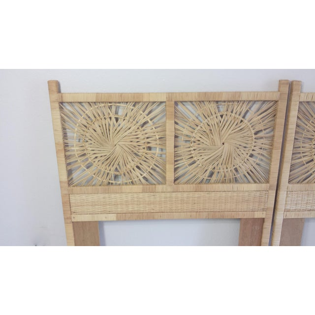 Woven Rattan Twin Headboards - A Pair - Image 7 of 9