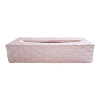 Tufted Ceramic Tissue Box Cover