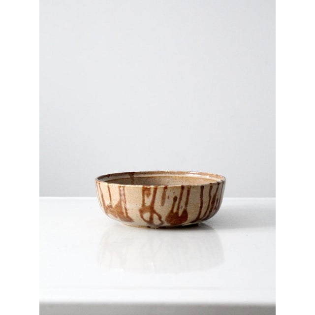 1970s Brown Glazed Pottery Bowl - Image 3 of 8