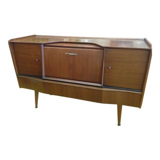 Beautility Mid-Century Sideboard With Drop Bar